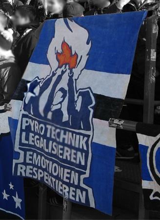 Pyrotechnik legalisieren - Emotionen respektieren (Bielefeld)