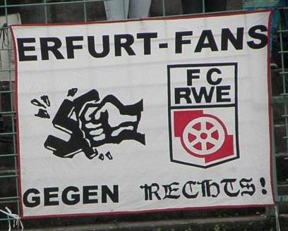 Erfurt-Fans gegen Rechts