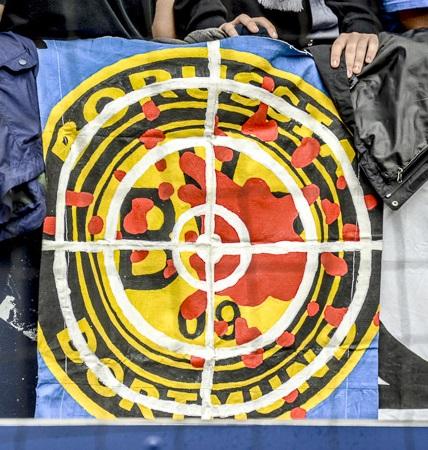 BVB-Logo im Fadenkreuz