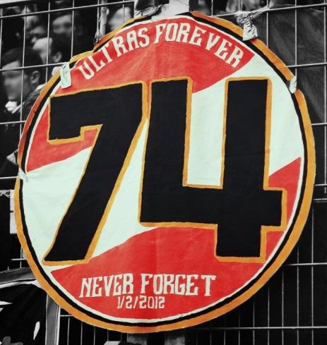 Ultras forever - 74 never forget 1/2/2012
