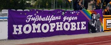 Fu�ballfans gegen Homophobie (Dresden)