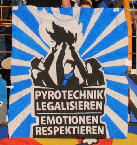 Pyrotechnik legalisieren - Emotionen respektieren (Trier)